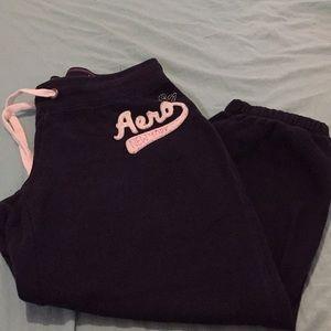 Woman's Aeropostale sweat pants size M